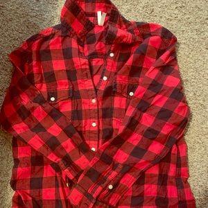 Plaid print blouse